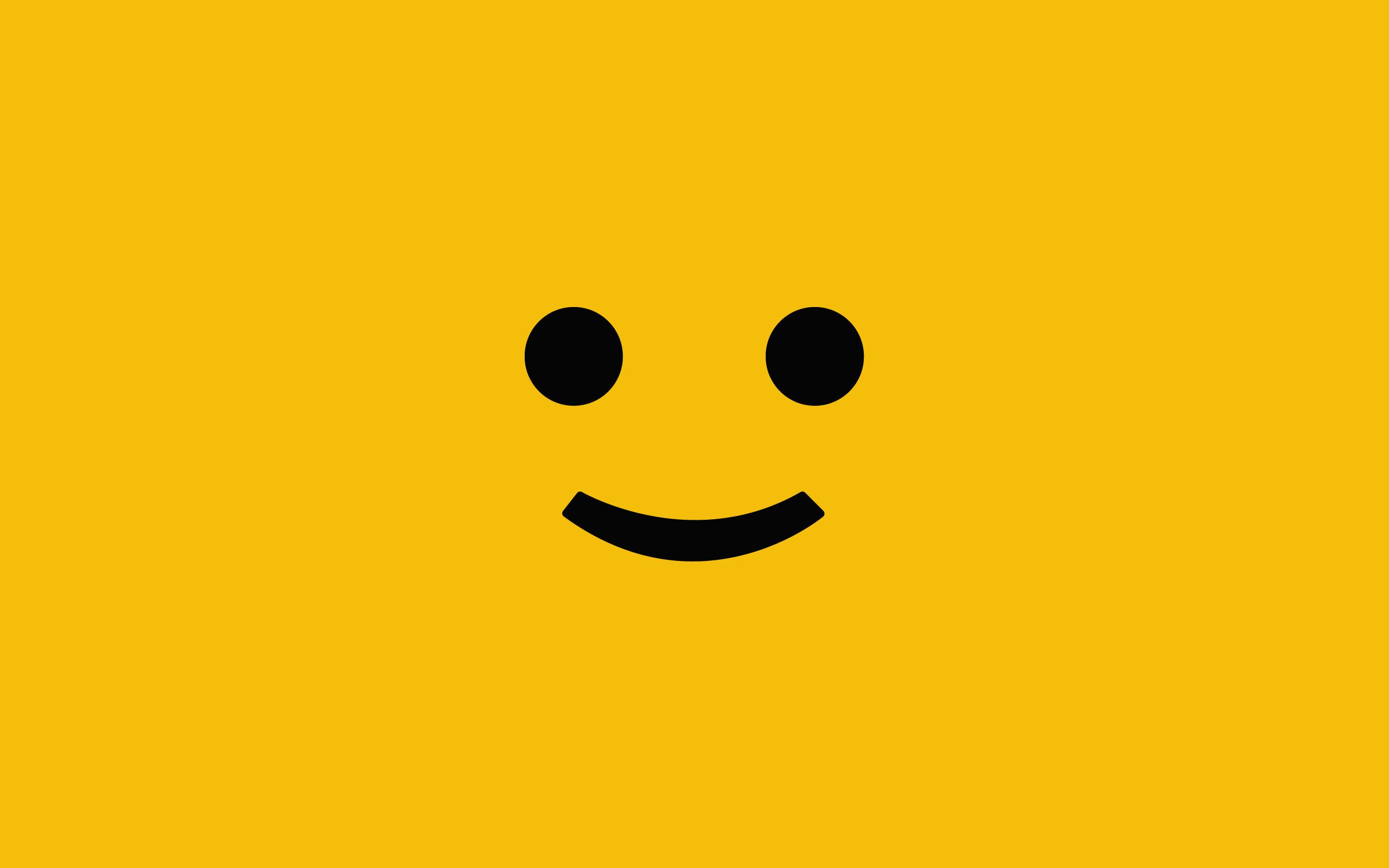 Wall4All Legos minimalistic yellow background desktop