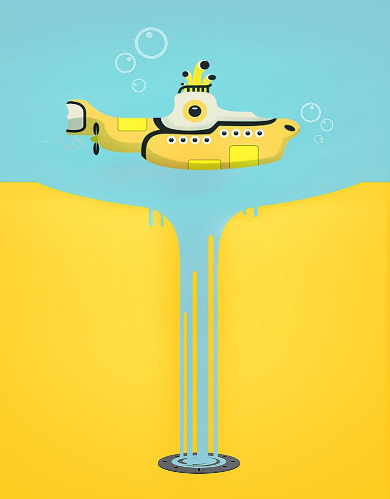 Yellow Submarine Wall Paper