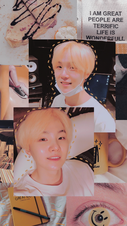BTS Yoongi yellow aesthetic lockscreen by LauriAtweh on