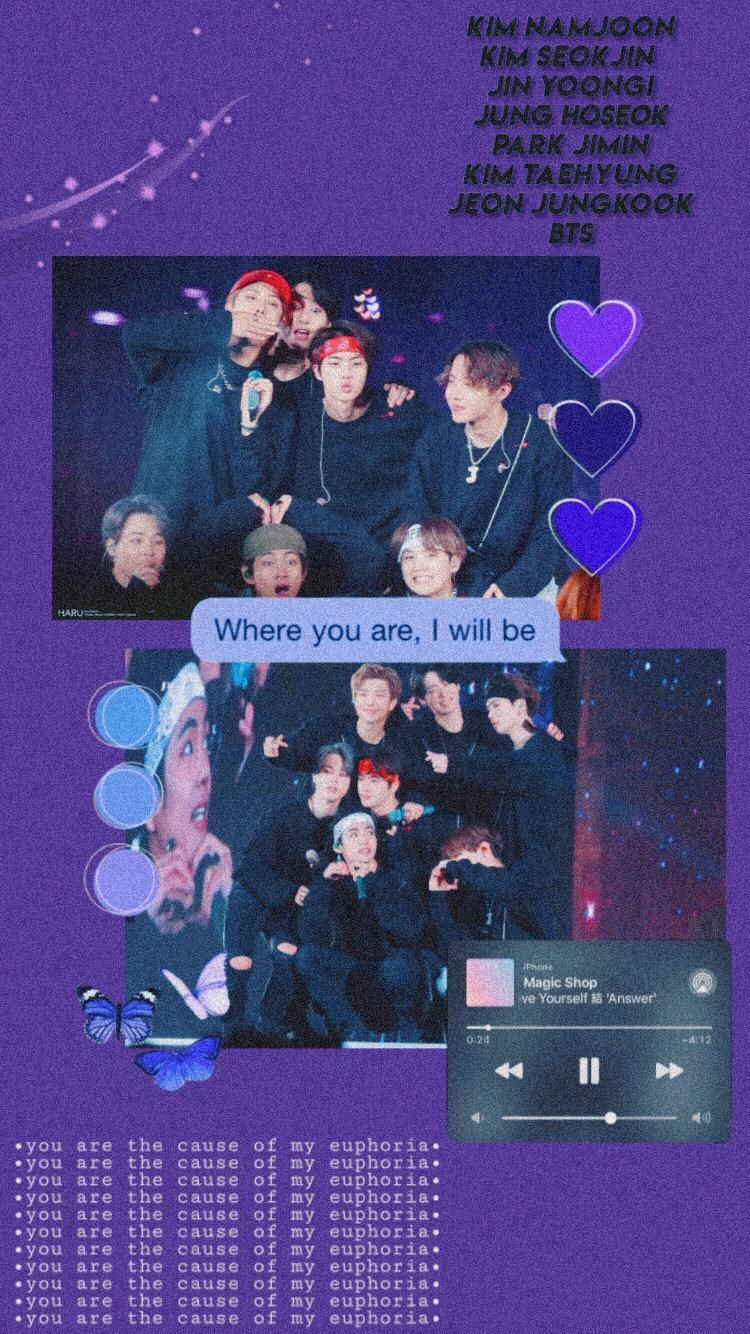 I Purple You Bts Wallpapers posted by Michelle Cunningham